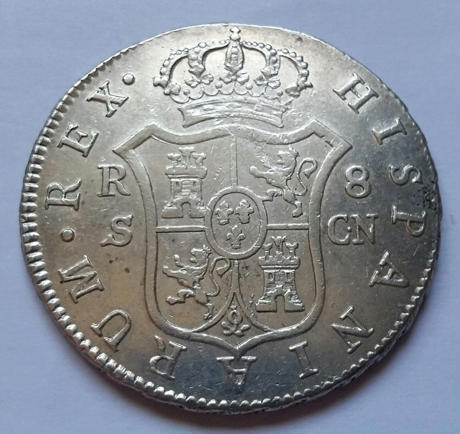 8 Reales 1809. Fernando VII. Sevilla CN 8_real37