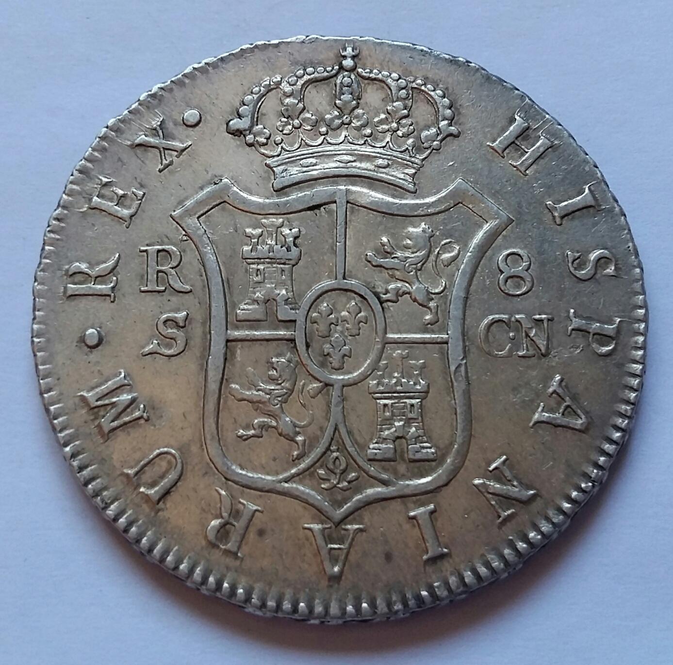 8 Reales 1808. Fernando VII. Sevilla CN 8_real48