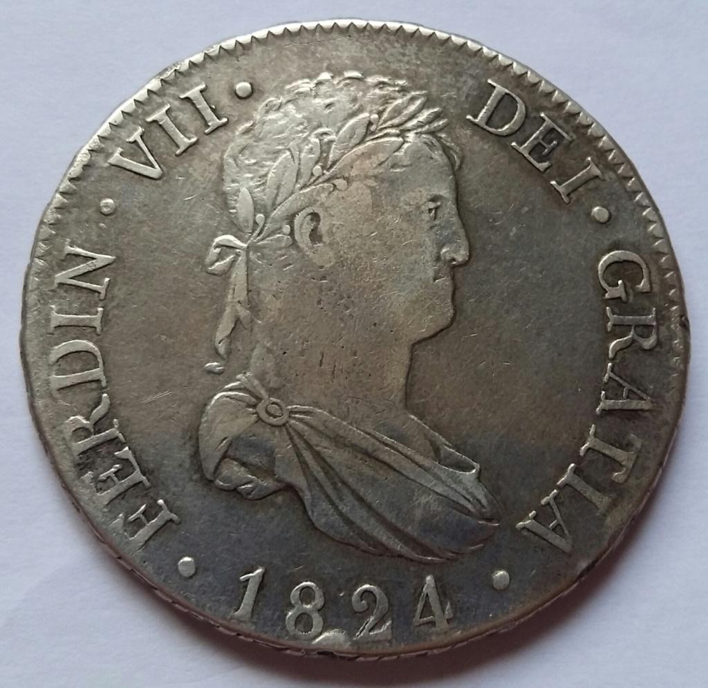 8 Reales 1824. Fernando VII. Madrid AJ 8_real54