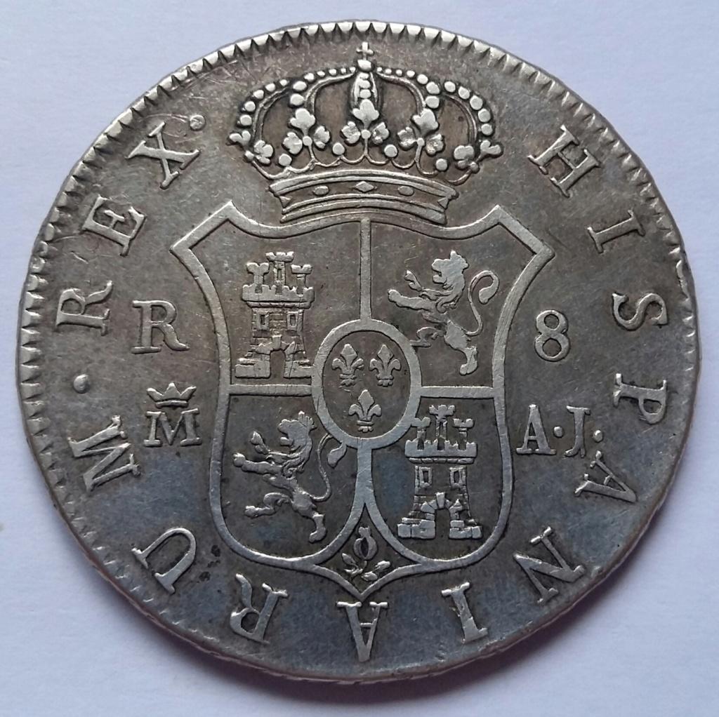 8 Reales 1824. Fernando VII. Madrid AJ 8_real55