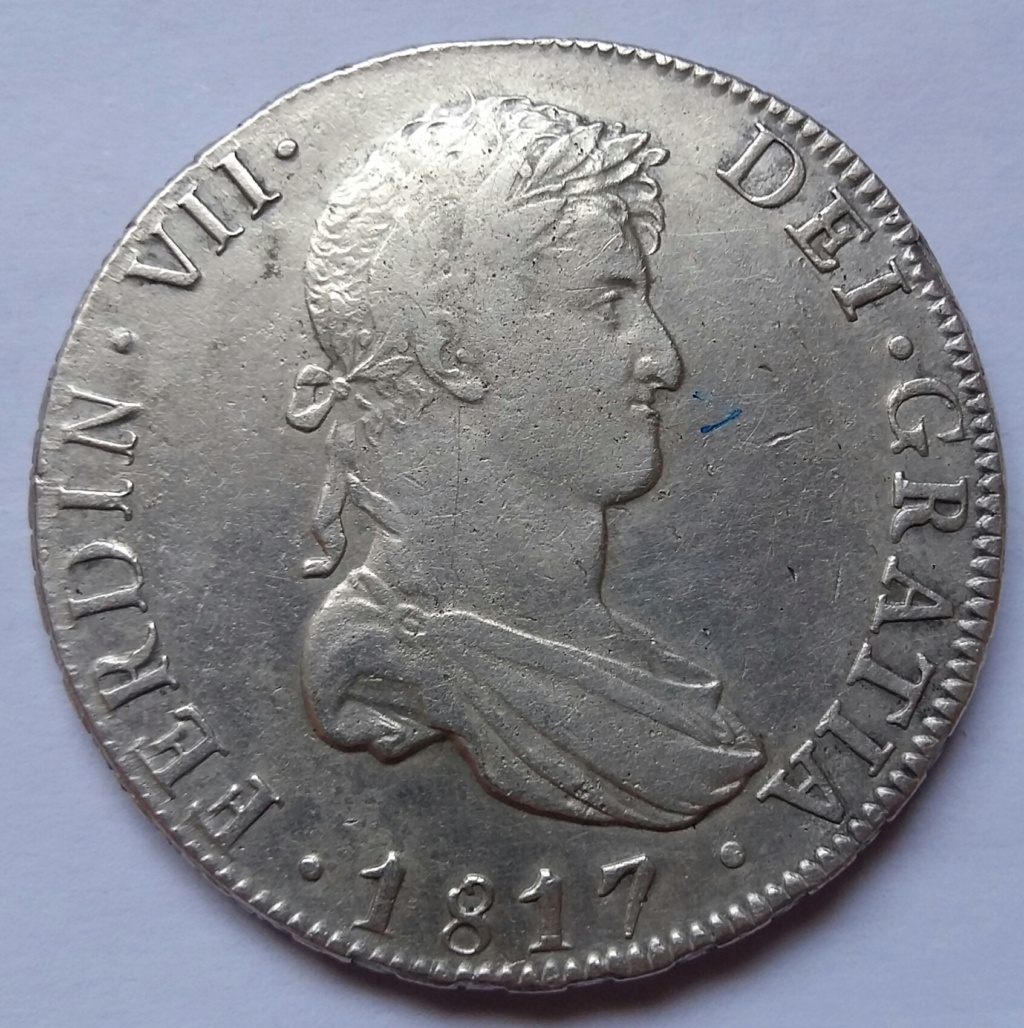 8 Reales 1817. Fernando VII. Potosí PJ 8_real66
