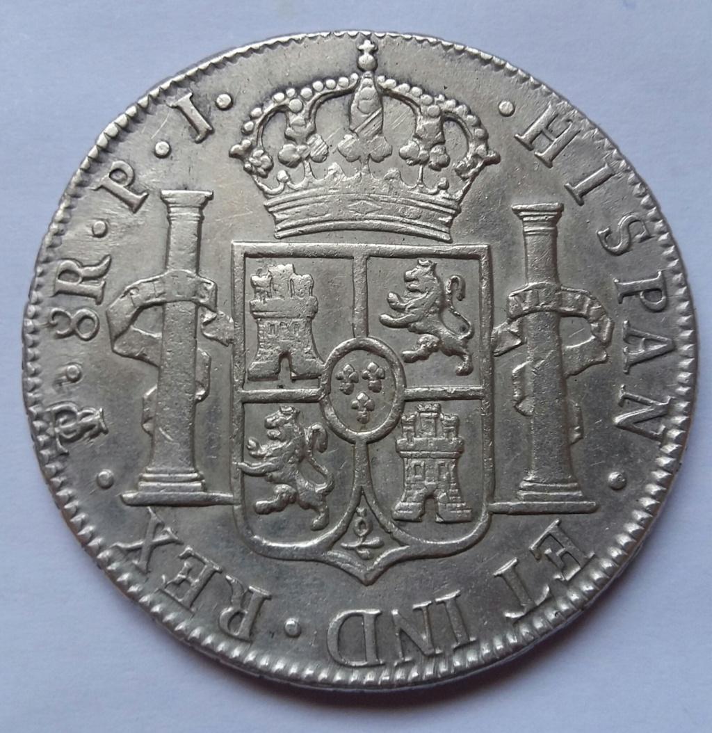 8 Reales 1817. Fernando VII. Potosí PJ 8_real67