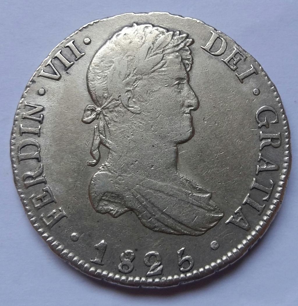 8 Reales 1825. Fernando VII. Potosí JL 8_real73