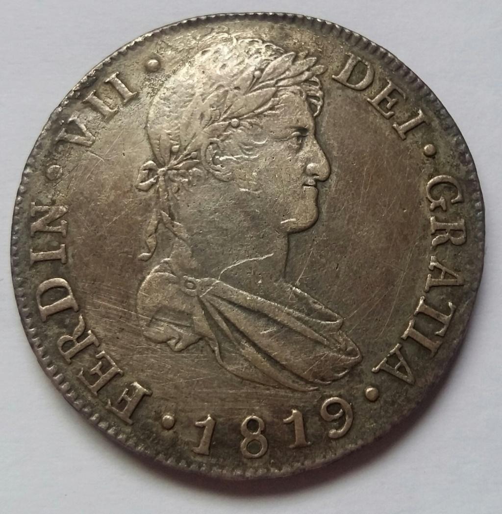 8 Reales 1819. Fernando VII. Guatemala NG 8_real96