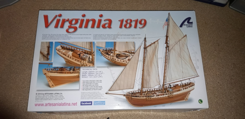 Virginia 1819 d'Artesania Latina 1:41 20190810