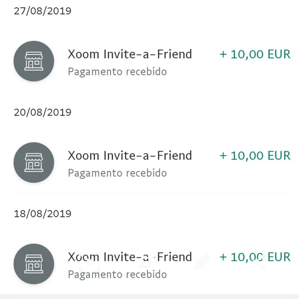 OPORTUNIDADE [Provado] - Ganha 10€ Paypal por registar na Xoom (empresaPaypal) 20190911
