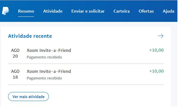 OPORTUNIDADE [Provado] - Ganha 25€ Paypal por registar na Xoom (empresaPaypal) Xoom10