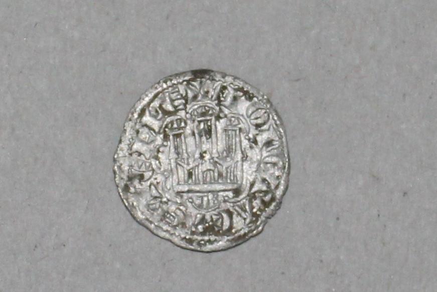 Dinero de la 2ª guerra de Granada de Alfonso X. Burgos. Emisión 1277 210