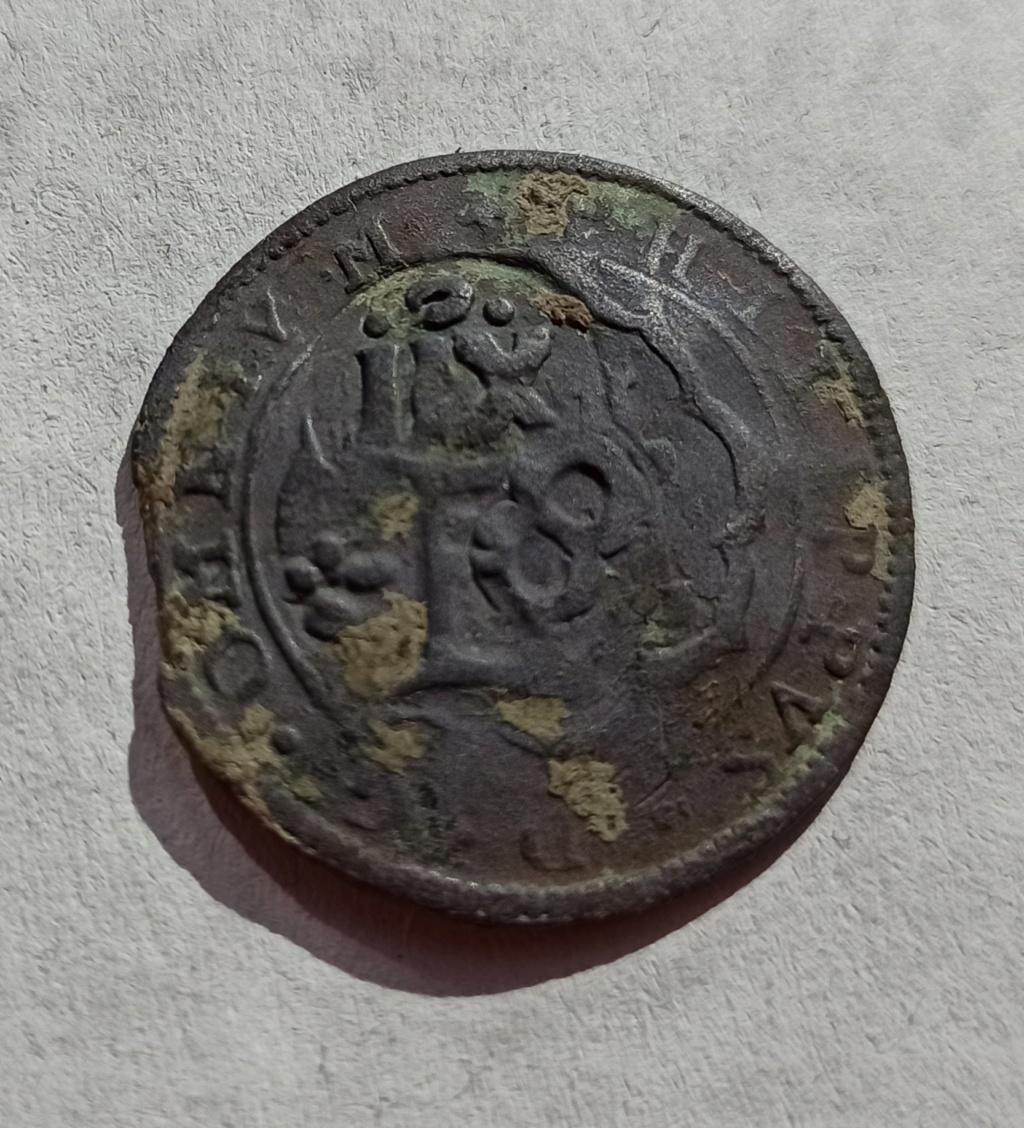 4 Maravedís de Felipe II, tipo OMNIVM 1598, Segovia. Resellados a XII mrvs, de 1636 y 8 de 1651-52. Y ardite de Felipe IV, Barcelona. Img_2010