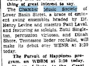 Chamber Music Society of Lower Basin Street 40-02-10