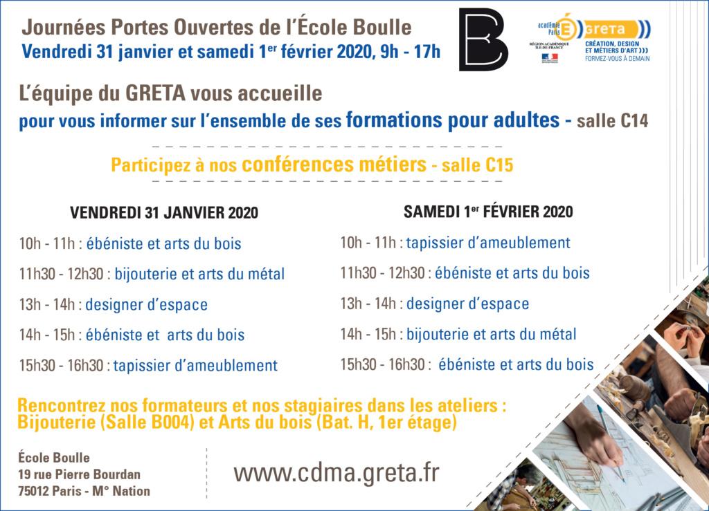 Le GRETA CDMA aux journées portes ouvertes de l'Ecole Boulle Com_pr10