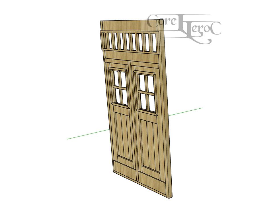 une porte double au 1/35e Yy00211
