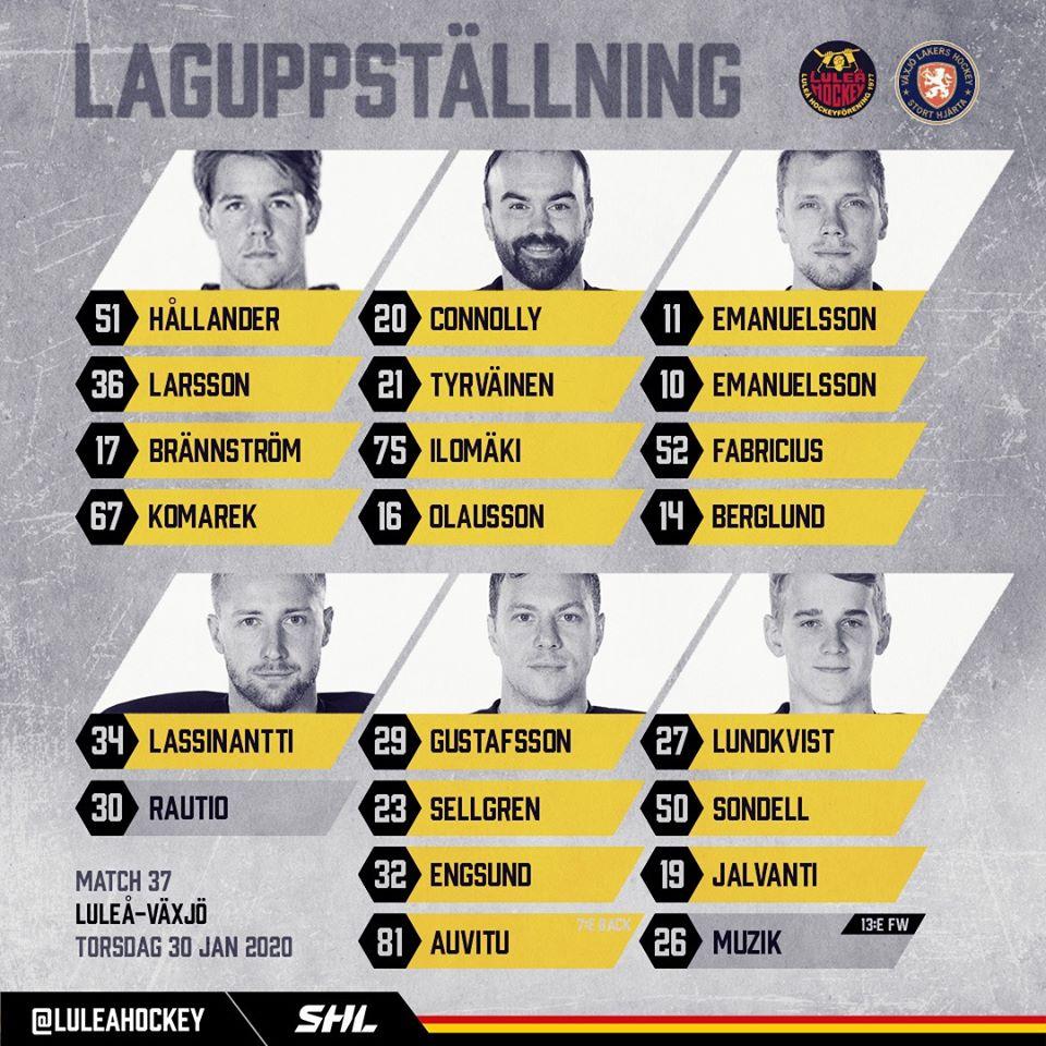 2020-01-30, SHL-match 37, Luleå - Växjö Lhf10
