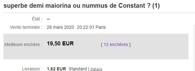 Demi maiorina ou nummus de Constant ? pour la NBD 2020-021