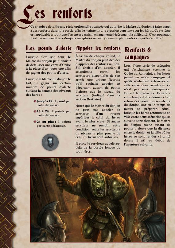 Règle Optionnelle avancée : les renforts Renfor14