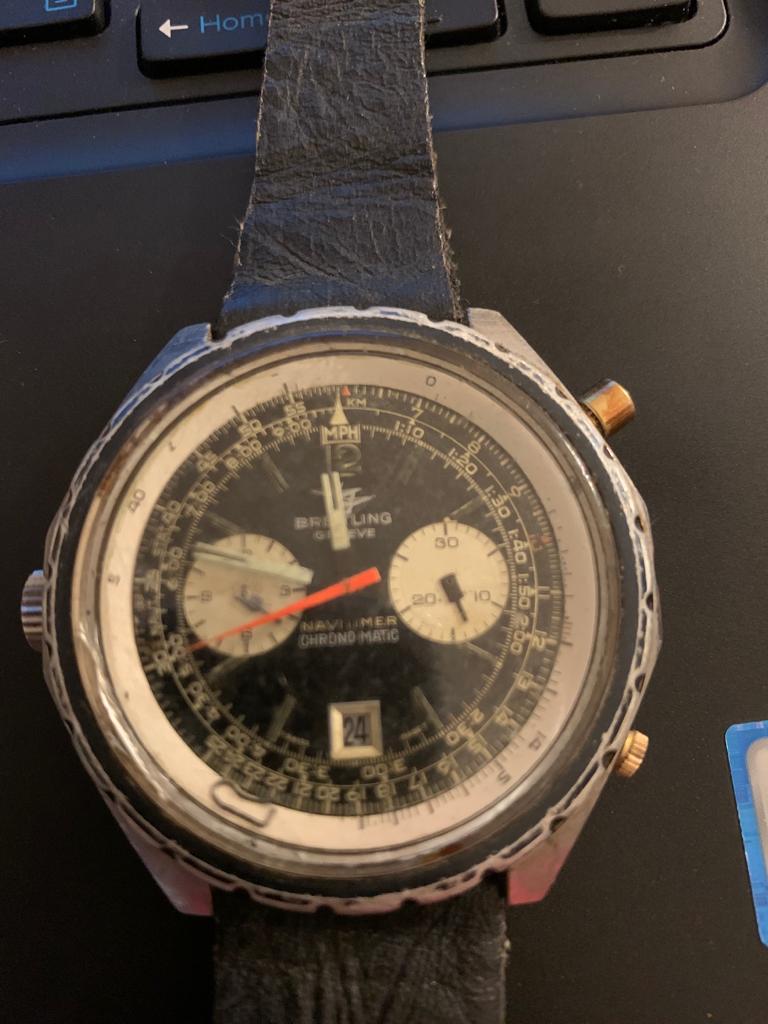 Restauro de breitling navitimer 11525/67 chrono-matic 610