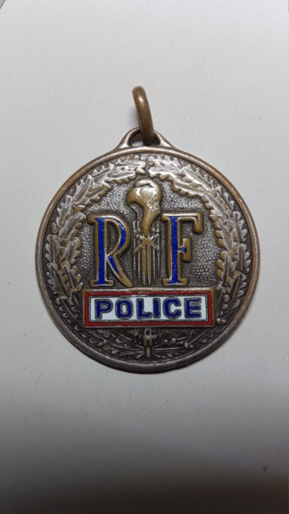 Ancienne médaille Police Nationale 20210812