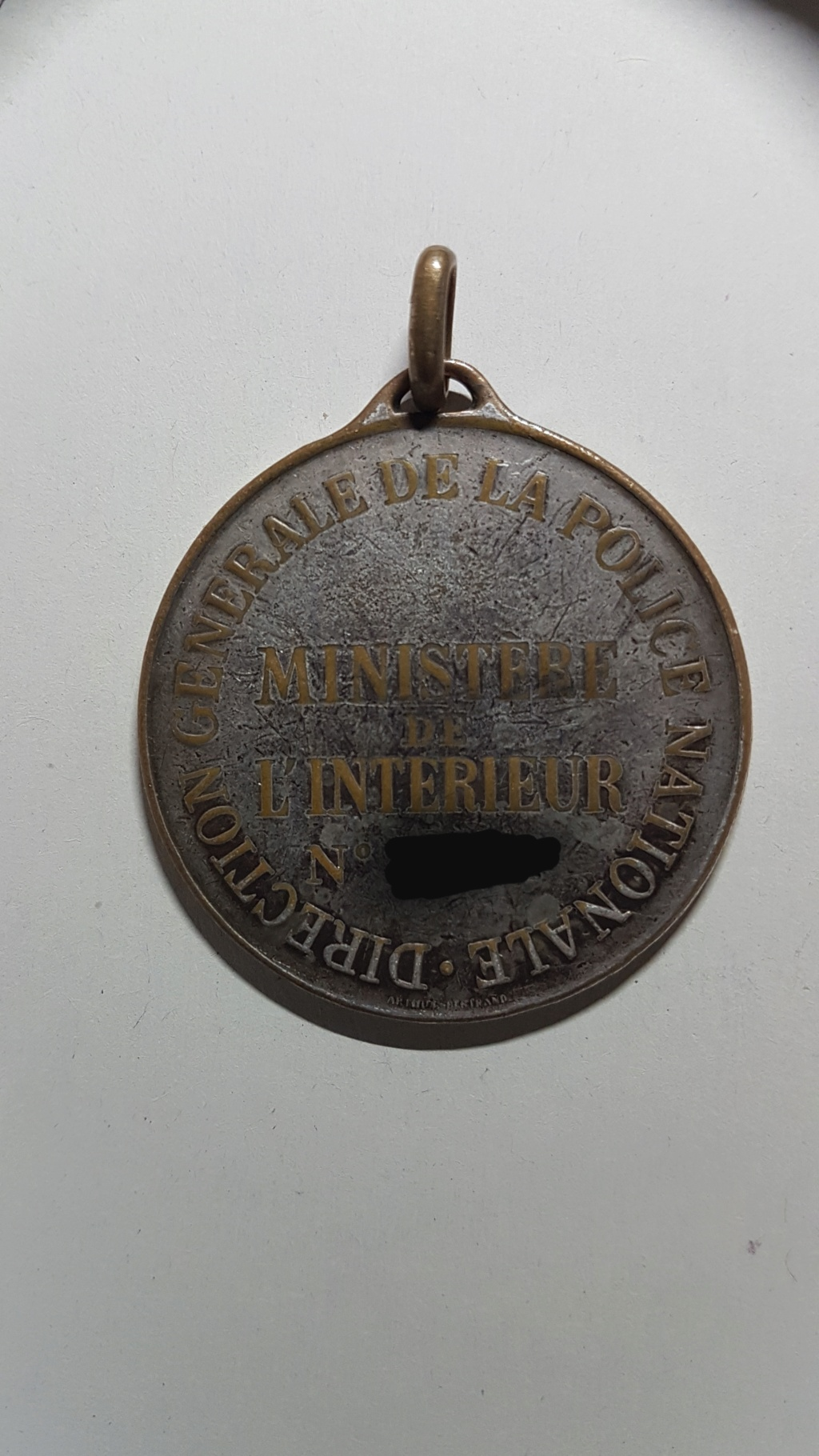 Ancienne médaille Police Nationale 20210813