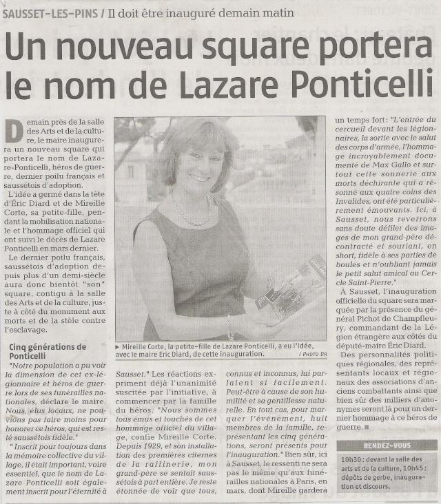 Décés du dernier poilus, LAZARE PONTICELLI - Page 4 Pontic10