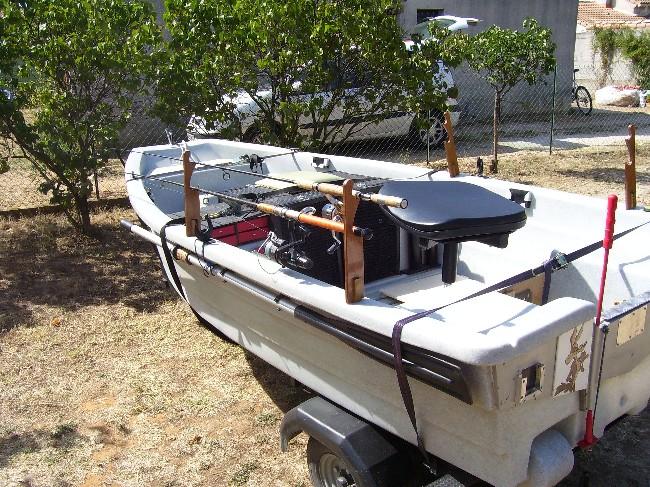 Fabrication de portes cannes horizontaux pour barque Dimens18