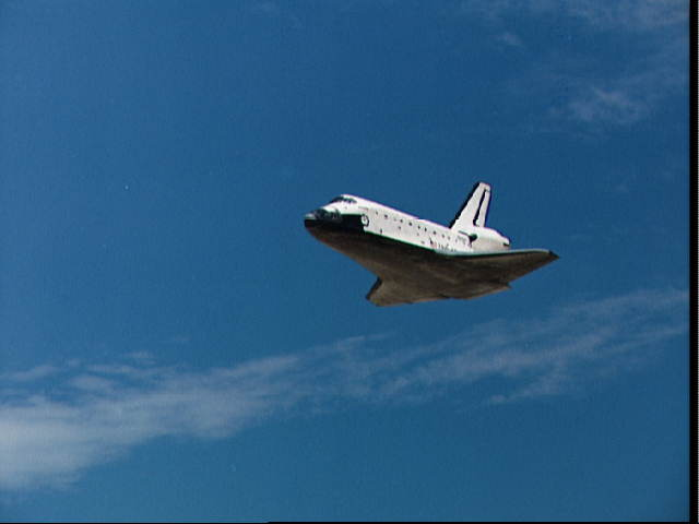 Atterrissage de la navette Sts-0312