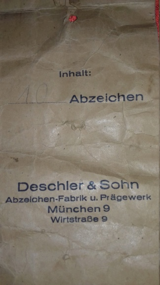 Rare pochette pour insigne Deschler & Sohn  20180713