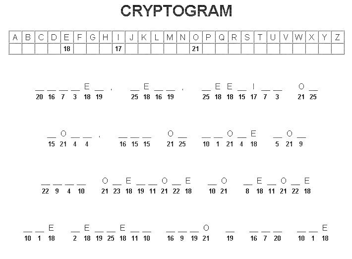 DADA Cryptogram #3 Dadacr10
