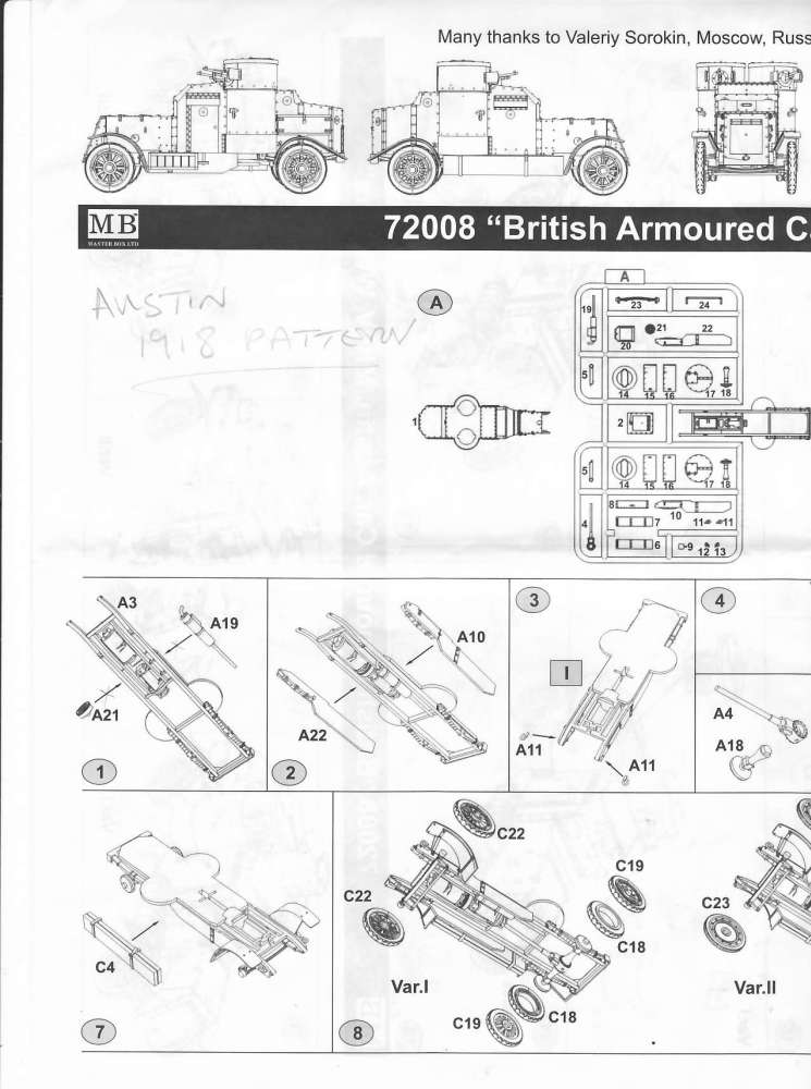 [ Master Box ] - Austin MkIV (FIN) Notice10