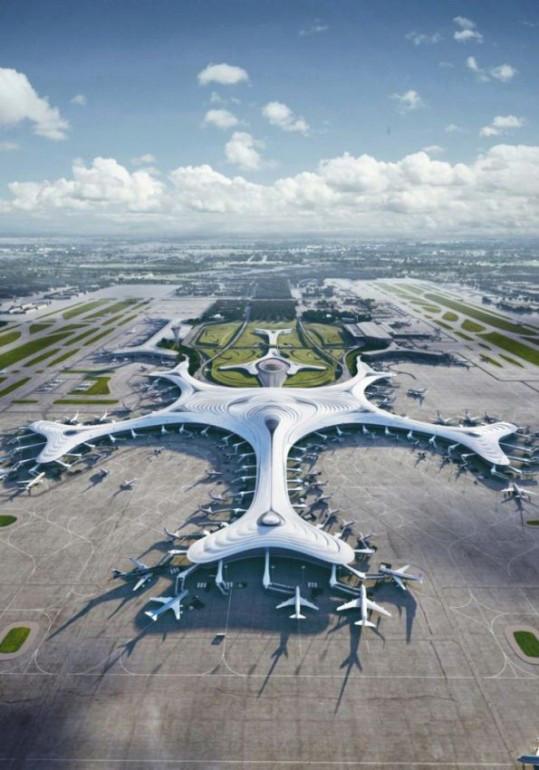 مطار هاربين الدولي بتصميم قطعة الثلج 15593810