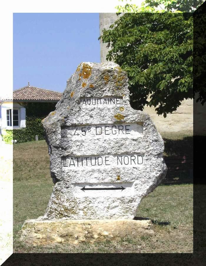 - Les monuments et panneaux dédiés au 45ème parallèle nord Standr12