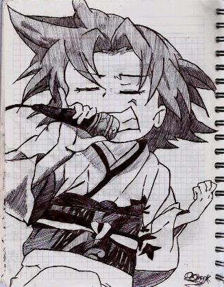 Dibujo de Lucky Star Dibujo12