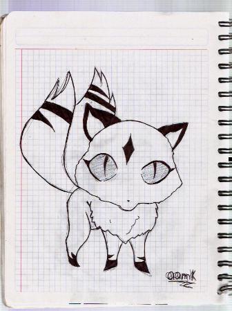 Dibujo Inuyasha Kirara10