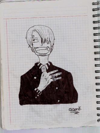 Dibujo One Piece Sanjii10