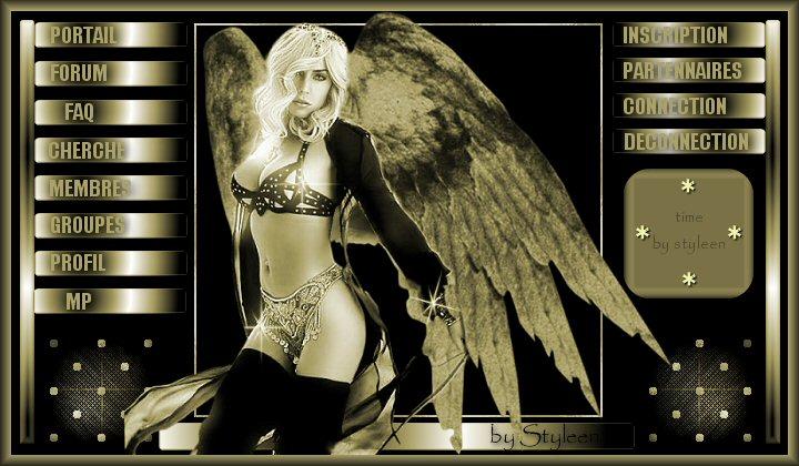 "Theme ""ange noir et Or"" by Sab Bannie11"