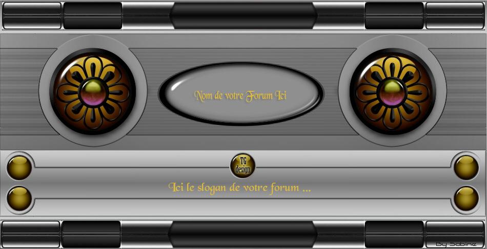"""Theme design """"Jaune_Gris"""" Bannie12"""