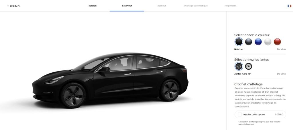 8 mai 2019 : la Model 3 ( nouvelle commande ) pourra tracter 910 kg 1070€ Tesla11