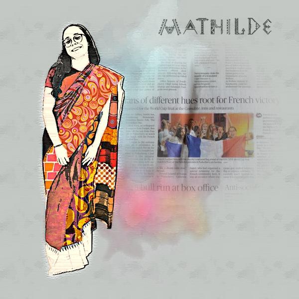 2018-35 / Challenge des invités : une silhouette en collage Mathil11