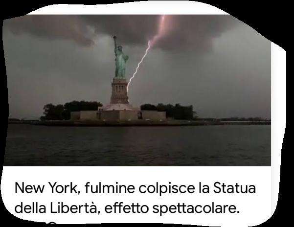 Un fulmine colpisce la statua della libertà Scree248