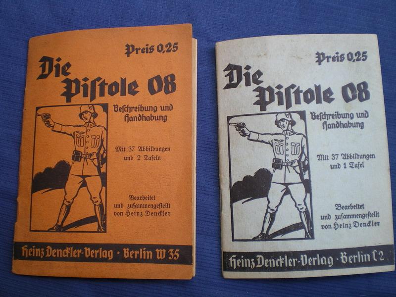Livrets et manuels du Luger P08 et Parabellum Couver11