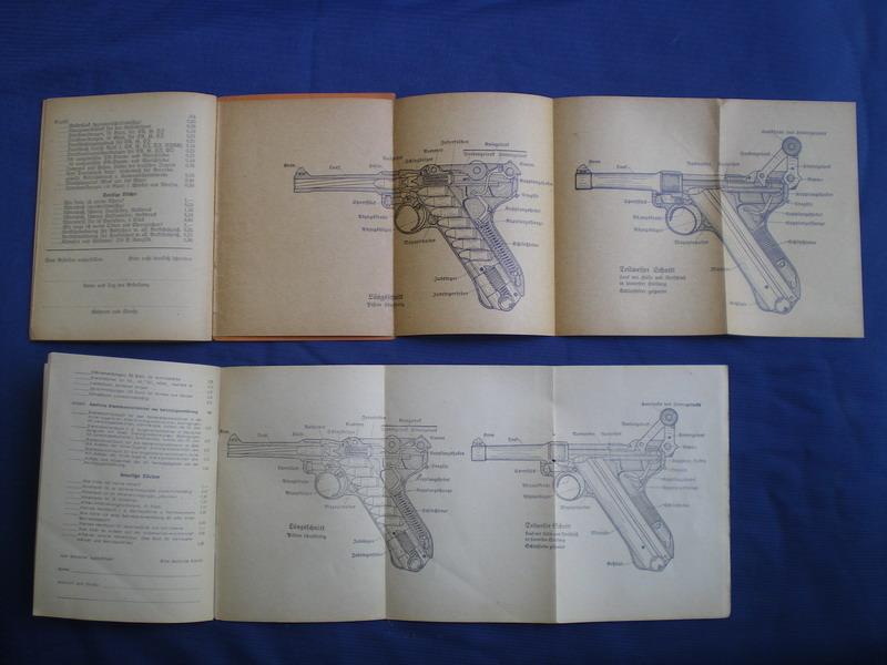 Livrets et manuels du Luger P08 et Parabellum Tafeln10