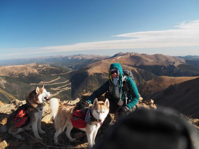 Hiking with dogs~Engelmann Peak Pa052913