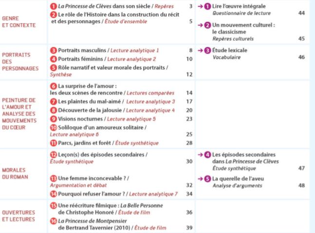 1re : La Princesse de Clèves + parcours Sans_t10