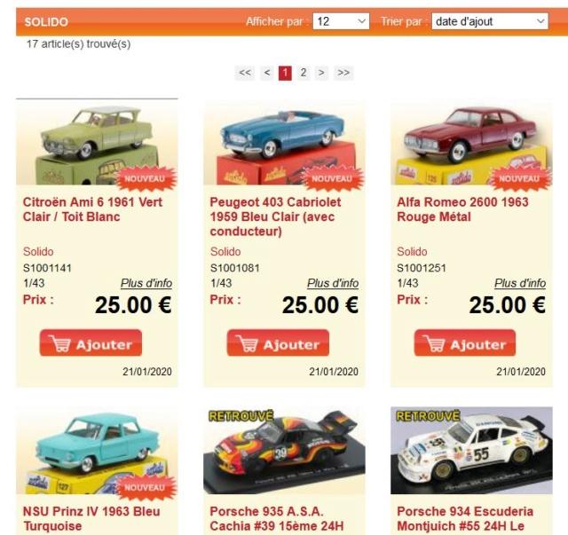 Les SOLIDO club série 100 vente chez Dan Toys Solido36