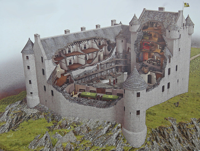 Un bel exemple de château écossais au XVIIème siècle 32375110