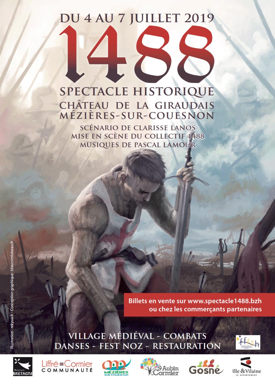 Spectacle historique : 1488 la bataille de Saint-Aubin du Cormier Affich10