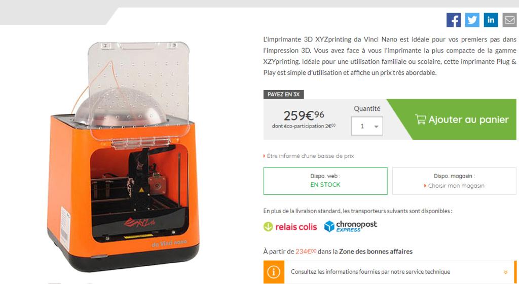 Imprimante 3D Xyz10
