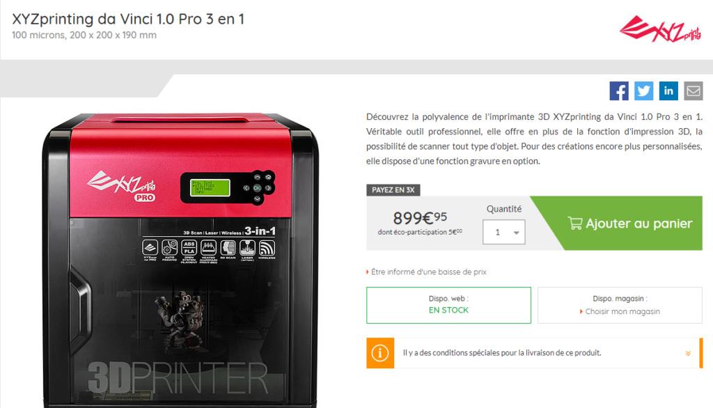 Imprimante 3D Xyzpro10