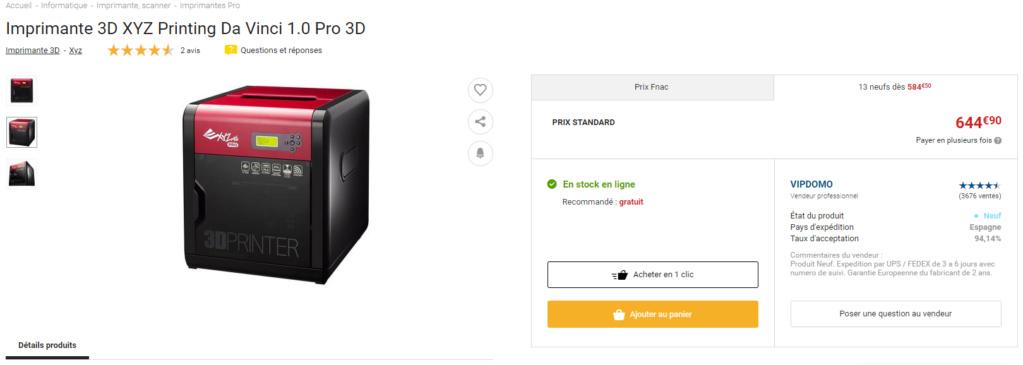 Imprimante 3D Xyzpro13