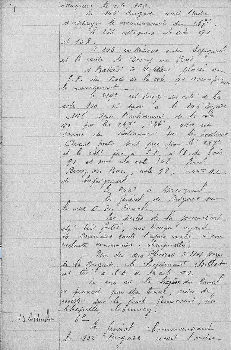 Lieutenant BILLOT Camille Félix Guillaume (+14/07/1914) 105eb_11