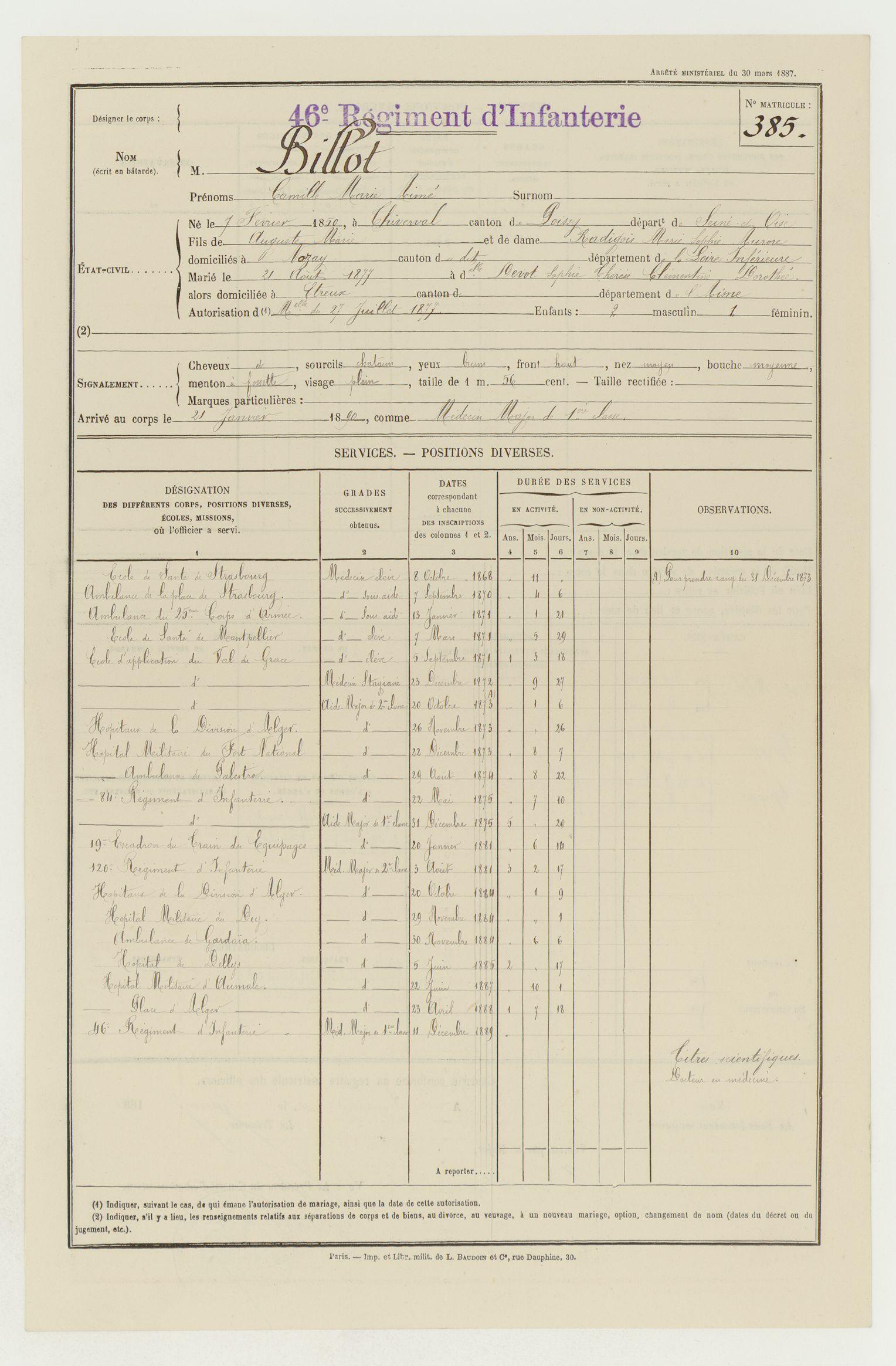 Lieutenant BILLOT Camille Félix Guillaume (+14/07/1914) Billot12